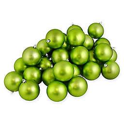 Northlight® 2.5-Inch Matte Vegas Shatterproof Ornaments in Kiwi Green (Set of 60)