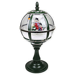 Musical Snowman Tabletop Lamppost in Green/Silver