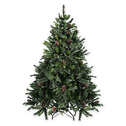 snowy delta pine artificial christmas tree