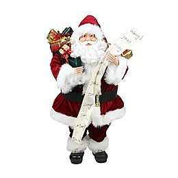 Santa Claus Figure with Naughty or Nice List