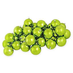 60-Count Shiny Christmas Ball Ornament in Kiwi Green
