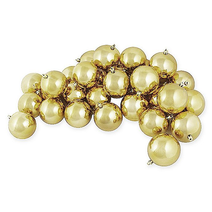 Alternate image 1 for 60-Count Shiny Christmas Ball Ornament in Gold