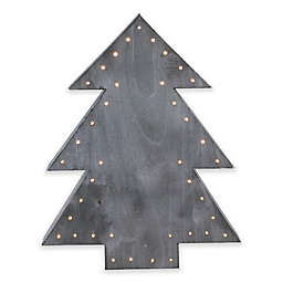 Winter's Beauty Christmas Tree Table Top Decoration in Grey