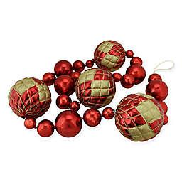 6-Foot Shatterproof Shiny Ball Garland