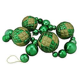 6-Foot Shatterproof Shiny Ball Garland in Green