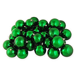 32-Piece Shiny Christmas Ball Ornament in Christmas Green