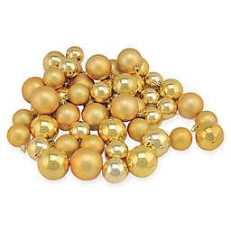 50-Piece Shiny & Matte Christmas Ball Ornaments