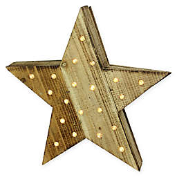 Luxury Lodge 15.5-Inch Rustic LED Wooden Star