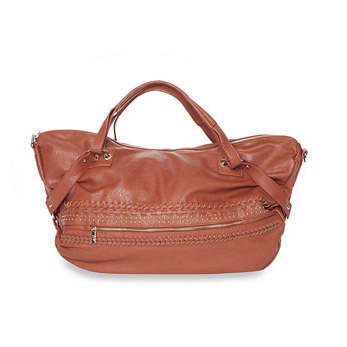 Alternate image 1 for Kids Line™ Mom-On-The-Go Twist Braid Satchel Bag in Brick