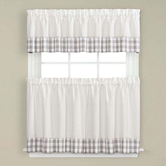 Cumberland Kitchen Window Curtain Tiers and Valance