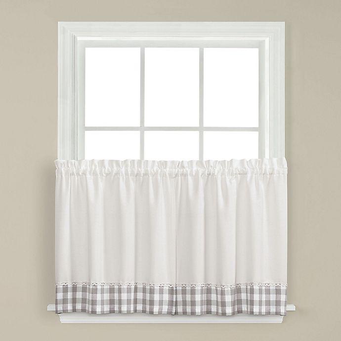 Alternate image 1 for Cumberland 24-Inch Kitchen Window Curtain Tier Pair in Grey