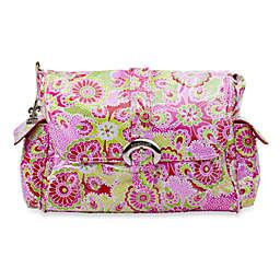 Kalencom Single Buckle Laminated Diaper Bag in Jazz Ruby