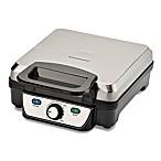 Toastmaster 4 Slice Waffle Maker in Silver/Black