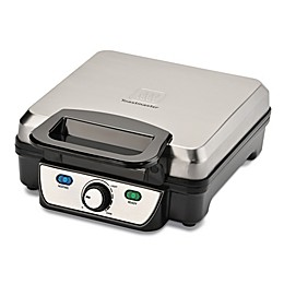 Toastmaster 4 Slice Waffle Maker in Silver/Black