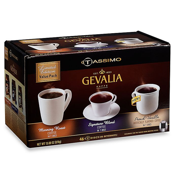 Alternate image 1 for Gevalia 46-Count Variety Pack for Tassimo™ Beverage System