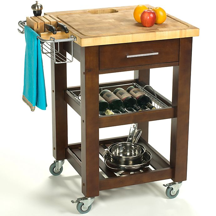 Alternate image 1 for Chris & Chris Pro Chef 24-Inch Rolling Kitchen Work Stations