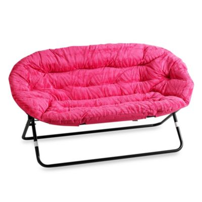 Idea Nova Double Saucer Chair In Pink Zebra Bed Bath And