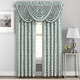 J. Queen New York™ Lombardi 84-Inch Rod Pocket Window Curtain Panel Pair in Blue