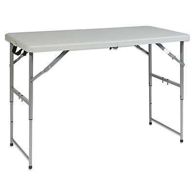 Office Star Products Height Adjustable Multi Purpose Table In Off White
