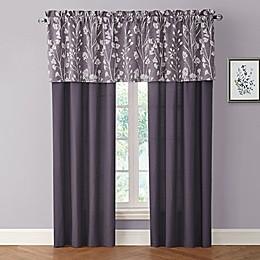 Bethany 84-Inch Rod Pocket Window Curtain Panel Pair in Raisin