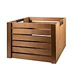UGG® Wood Medium Storage Crate in Brown