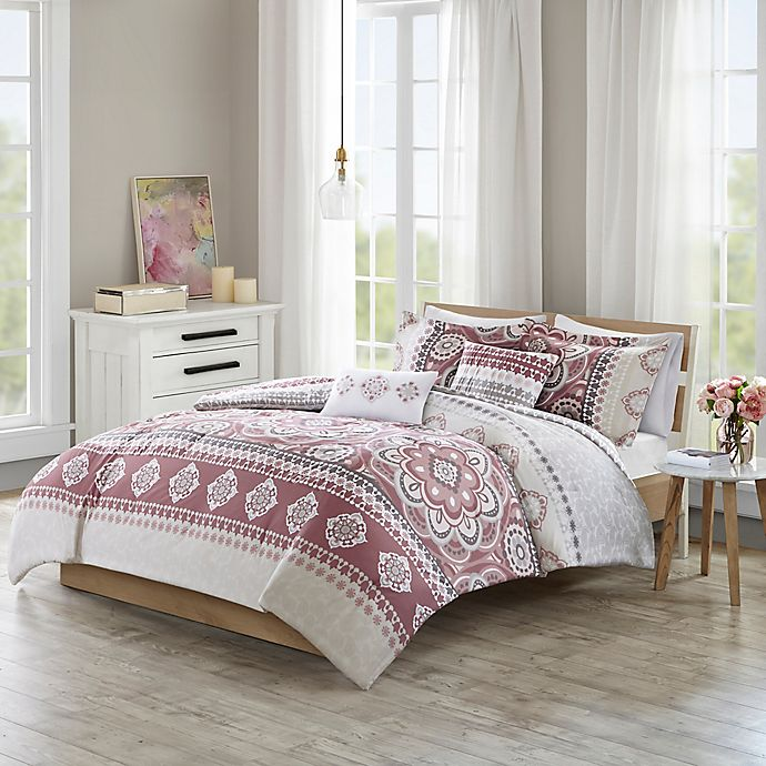 Alternate image 1 for 510 Designs Neda Reversible King/California King Comforter Set in Rose