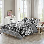 510 Designs Neda Reversible King/California King Duvet Cover Set in Charcoal