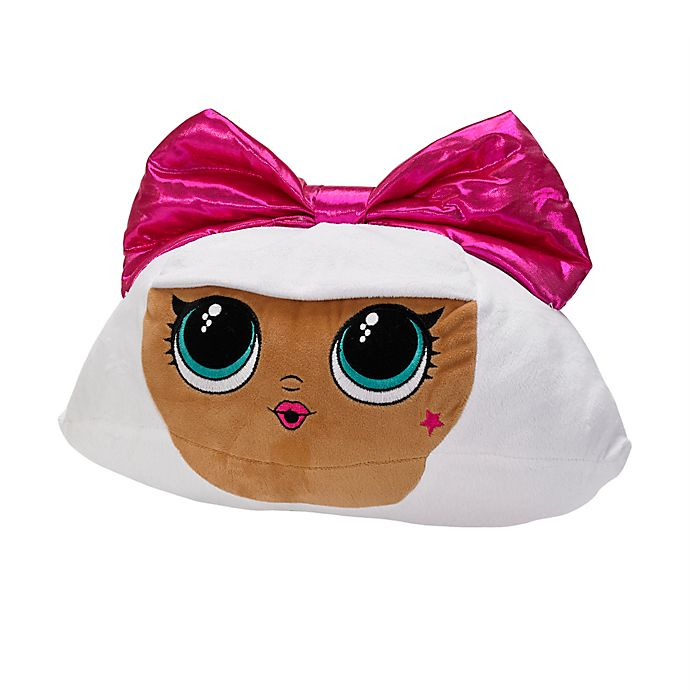 Alternate image 1 for LOL Surprise Bow Diva Cuddle Throw Pillow in Pink