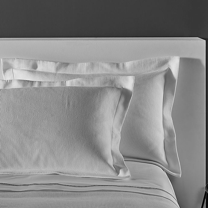 Alternate image 1 for Frette At Home Concrete Fashion Standard Pillow Sham in White