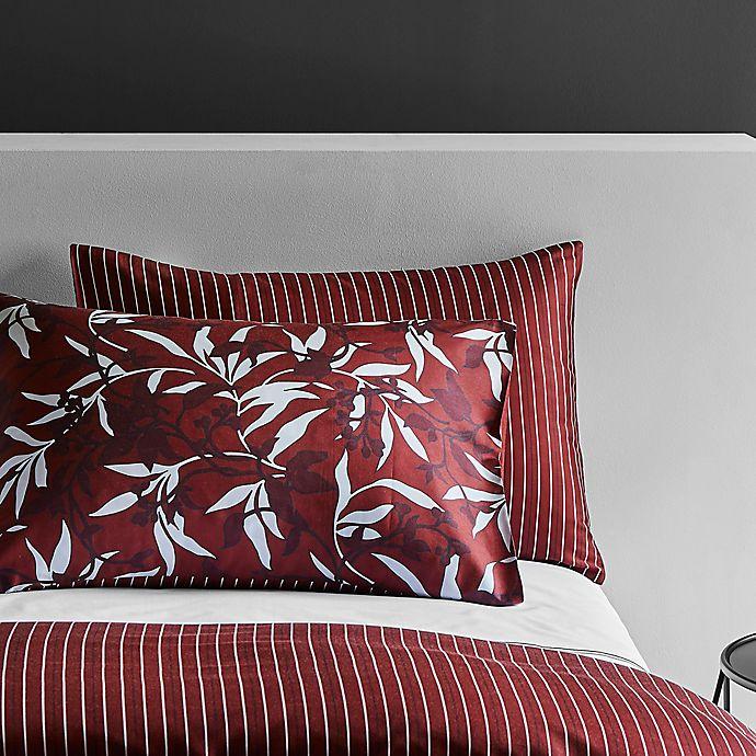 Alternate image 1 for Frette At Home Chinoiserie Standard Pillow Sham in Bordeaux