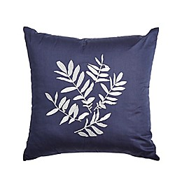 Canadian Living Victoria Embroidered Square Throw Pillow in Navy