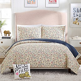 Hello Lucky Provencal Poppies Reversible Quilt Set