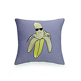 Urban Playground™ Cool Banana Square Throw Pillow in Grey