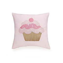 Urban Playground™ Cupcake Embroidered Throw Pillow in Pink