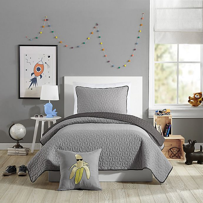 Alternate image 1 for Urban Playground™ Reversible Coty Twin Quilt in Grey