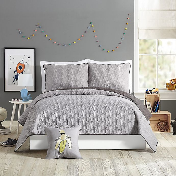 Alternate image 1 for Urban Playground™ Reversible Coty Full/Queen Quilt in Grey