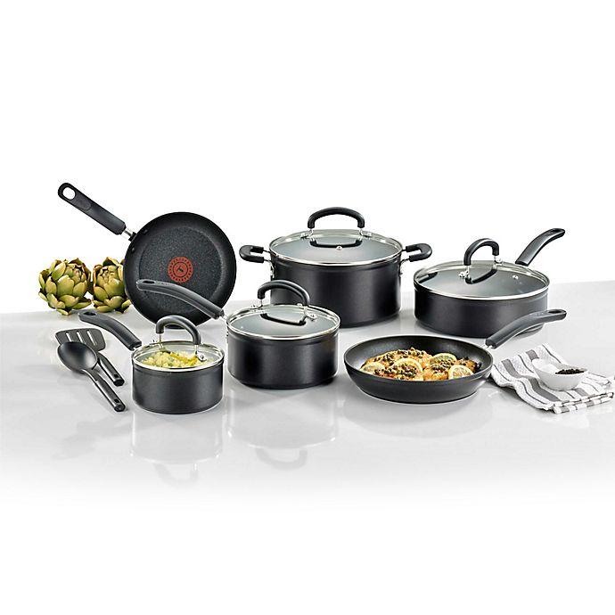 Alternate image 1 for T-Fal® Titanium Advanced Nonstick Aluminum Cookware Collection in Black