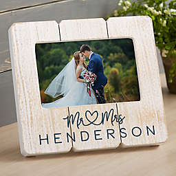 Infinite Love Wedding Shiplap Picture Frame