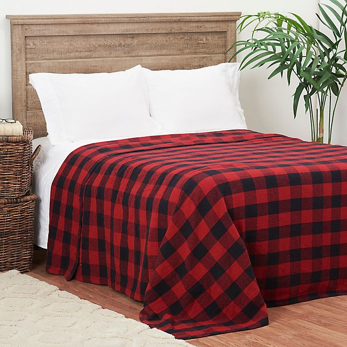 Alternate image 1 for C&F Home Franklin Checker Twin Blanket in Red/Black