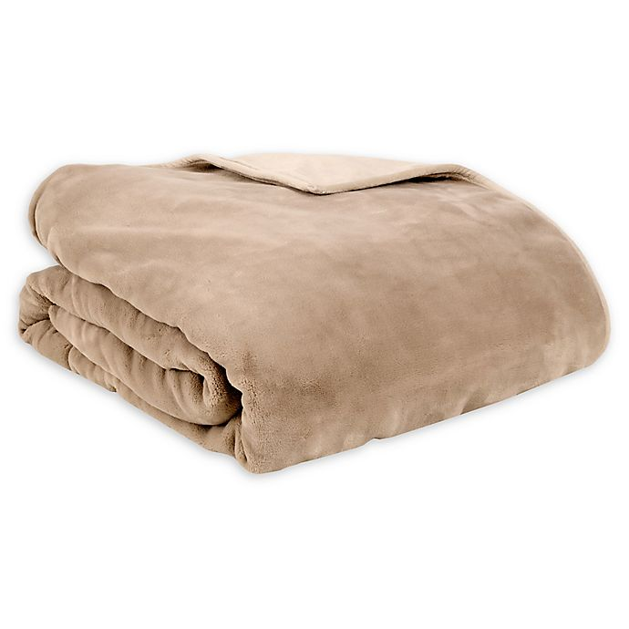 Alternate image 1 for Therapedic® Reversible 16 lb. Medium Weighted Blanket in Taupe