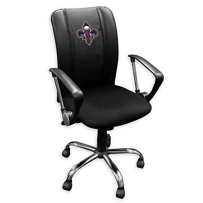 Nba New Orleans Pelicans Curve Task Chair In Black With