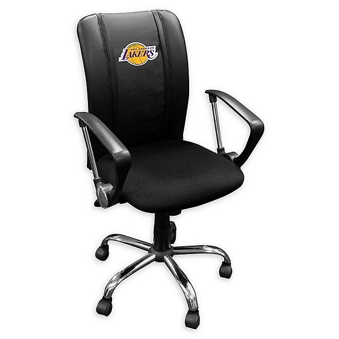 Terrific Nba Los Angeles Lakers Curve Task Chair In Black Bed Bath Ocoug Best Dining Table And Chair Ideas Images Ocougorg