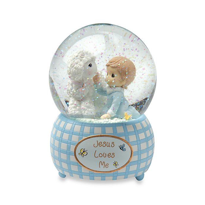 Alternate image 1 for Precious Moments™ Jesus Loves Me - Boy Musical Water Globe