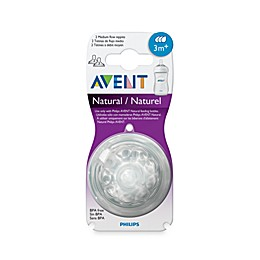 Philips Avent 3 Month+  2-Pack Medium Flow Natural Nipples
