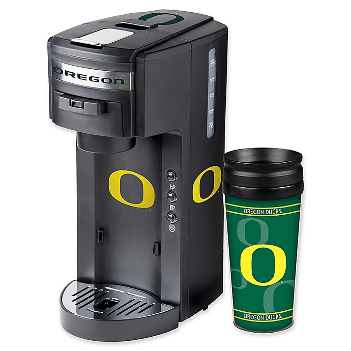 Alternate image 1 for University of Oregon Deluxe Single Serve Coffee Maker