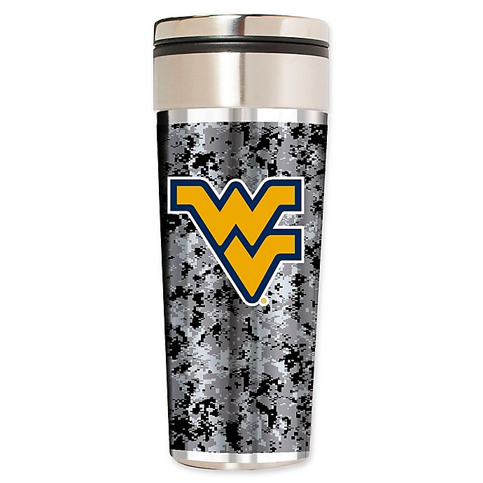 Alternate image 1 for West Virginia University Operation Hat Trick 22 oz. Vacuum-Insulated Travel Tumbler in Silver