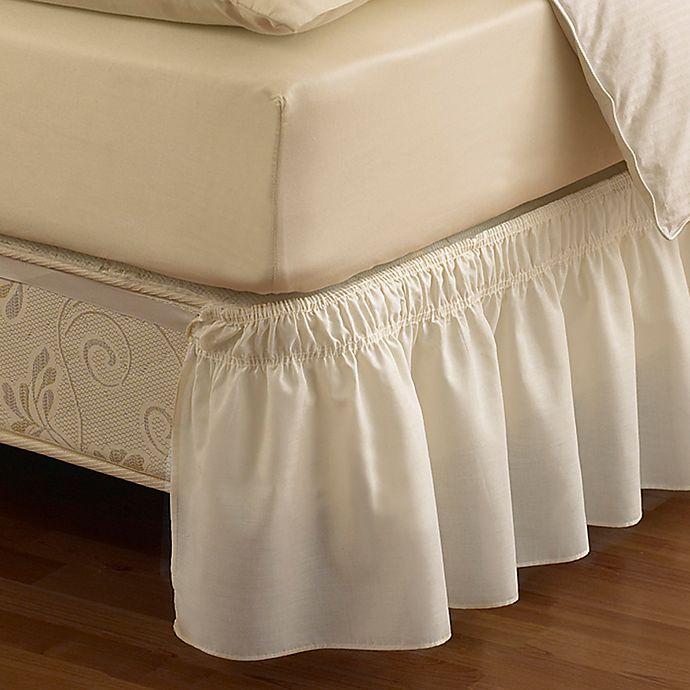 "Twin Fresh Ideas Eyelet Ruffled Bedskirt White Ruffled Bedding with Gathered Styling 18/"" Drop"