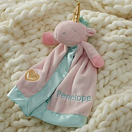 Unicorn Personalized Plush Rattle Lovey