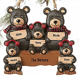Holiday Bear Family Personalized Ornament
