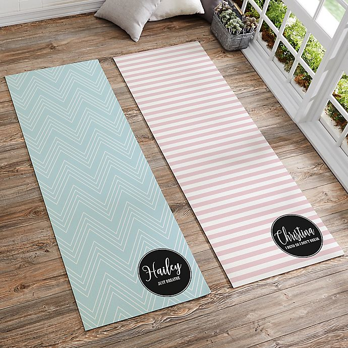 Alternate image 1 for Patterned Name Meaning Personalized Yoga Mat